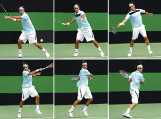 BAse open stance no tenis